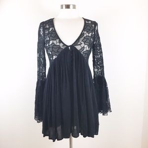 Free People With Love From India Dress Black Lace